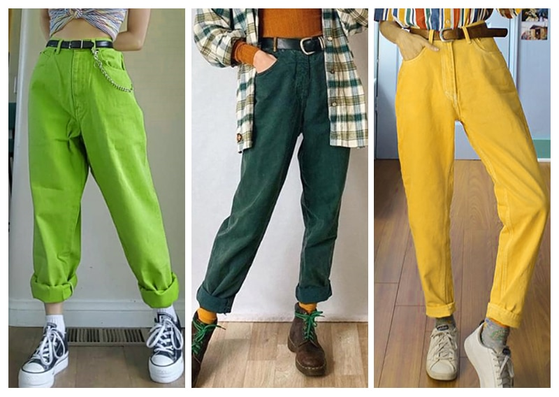 Women's Casual High Waist Candy color Jeans