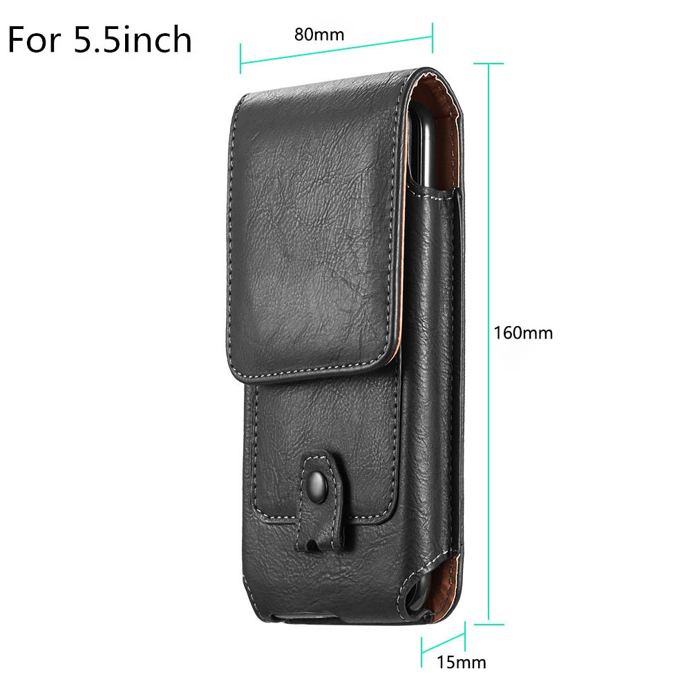 Universal Leather Phone Case For iPhone XS 11 Pro Max 6 7 8 Plus