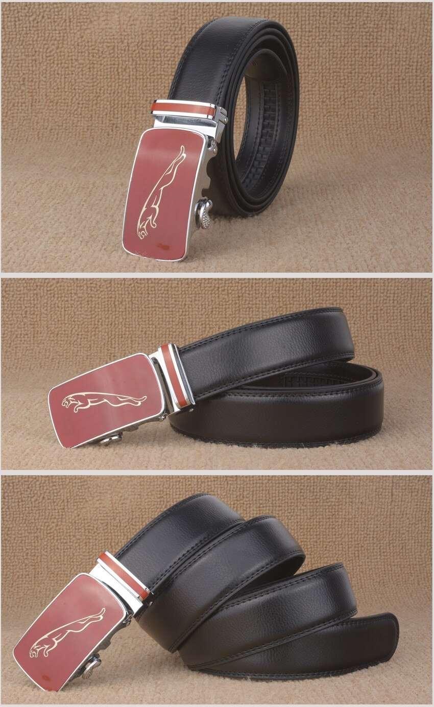 Fashion Red Jaguar Dragon Print Automatic Buckle Belts for Men