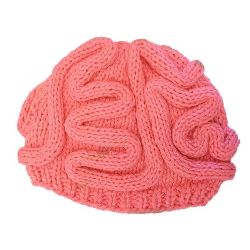 Brain Design Wool Beanie Hat