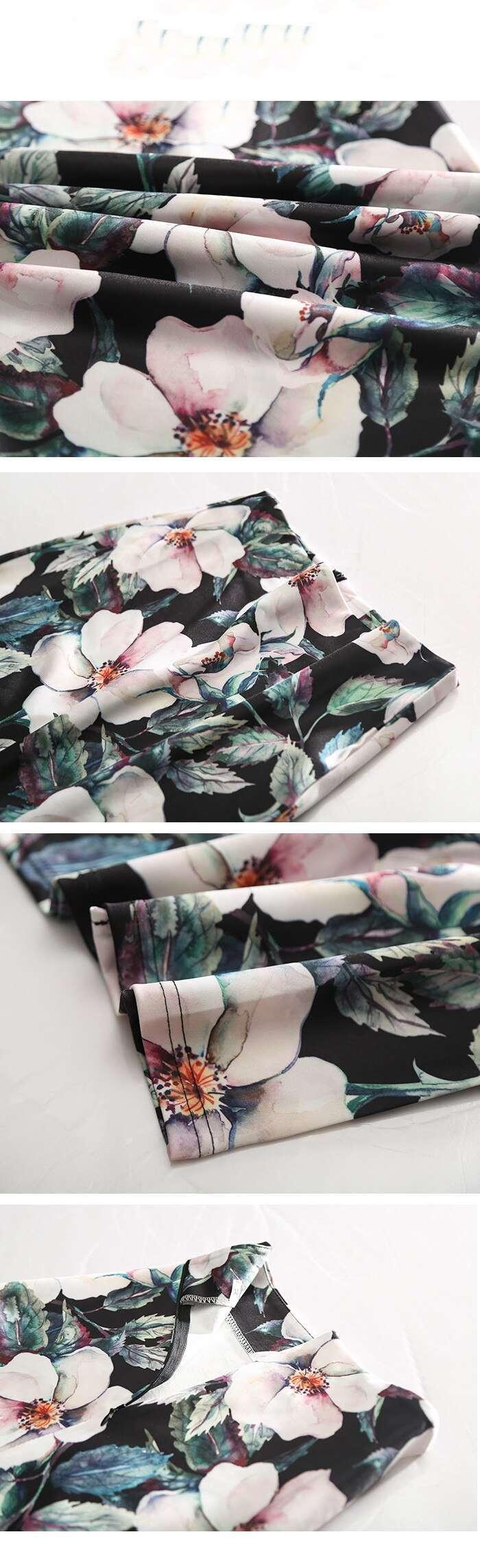 Floral High Waisted Women Summer Pencil Skirt