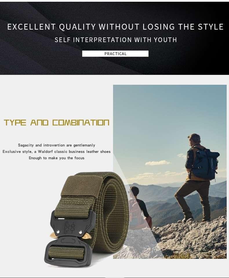 NEW Combat Men Tactical Nylon Metal Buckle Waist Belt