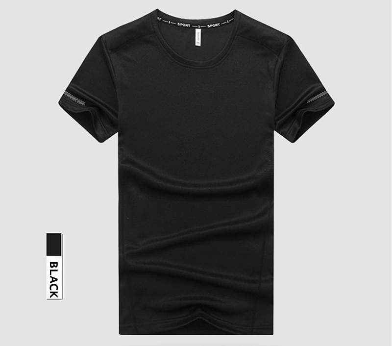 Big & Tall 7XL 8XL 9XL Men Summer Breathable Quickly Dry T Shirt
