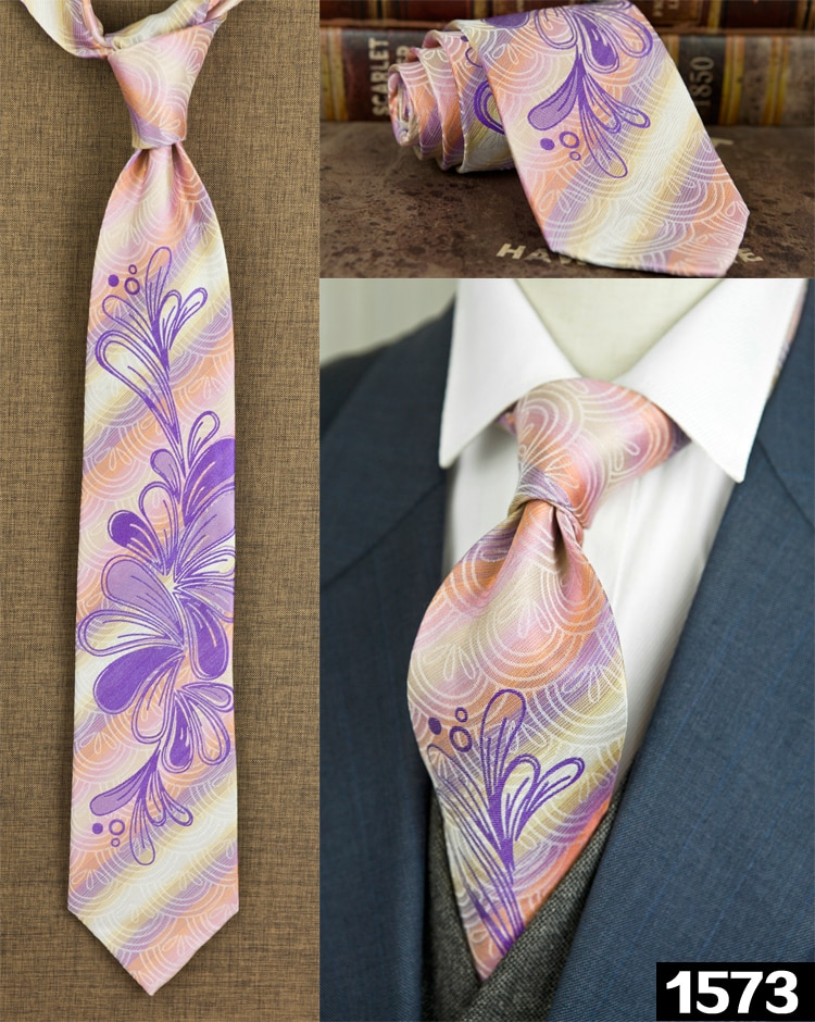 Men Classic Paisley Floral Checked Stripes Dots Multicolor 100% Silk Neckties